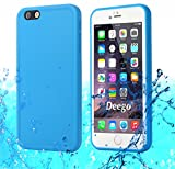 iPhone 6S Waterproof Case, AICase TPU Ultra Slim Thin Light [360 All Round Protective] Full Sealed IPX-6 Waterproof Shock/Dirt/Dust/Snow Proof Case Cover for Apple iPhone 6 / iPhone 6S 4.7' (Blue)