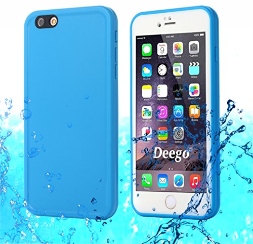 iPhone 6S Waterproof Case, AICase TPU Ultra Slim Thin Light [360 All Round Protective] Full Sealed IPX-6 Waterproof Shock/Dirt/Dust/Snow Proof Case Cover for Apple iPhone 6 / iPhone 6S 4.7 (Blue)