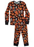 thermal 3t - Snoozzz'n Little Boys Thermal Underwear Top and Bottom Set (3T, BASKETBALLS)