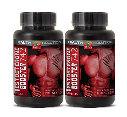 Tribulus terrestris supplement - TESTOSTERONE BOOSTER 742MG - support sexual energy for men (2 Bottles)