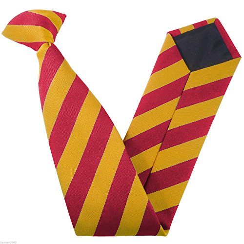 Block School Ties Variations Stripe Gold Size amp; On amp; Colour Clip Red wqAF5aq
