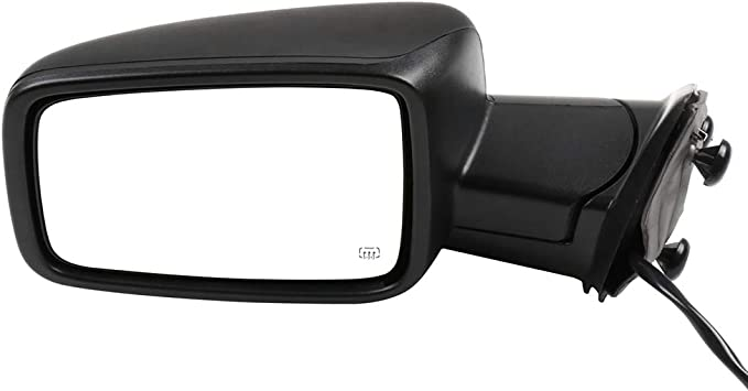 TUPARTS Right Side Towing Mirrors Compatible with 2009-2010 Dodge Ram 1500 2011-2013 Ram 1500 2011-2015 Ram 2500 2011-2013 Ram 3500 with Power Heated Turn Signal Manual Folding Power Adjustment
