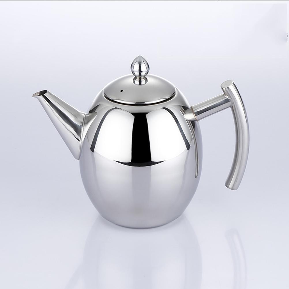 XUEXIN Stainless steel coffee pot handle gas Kettle cooker Kettle idea Kung Fu teapot , 1l by XUEXIN