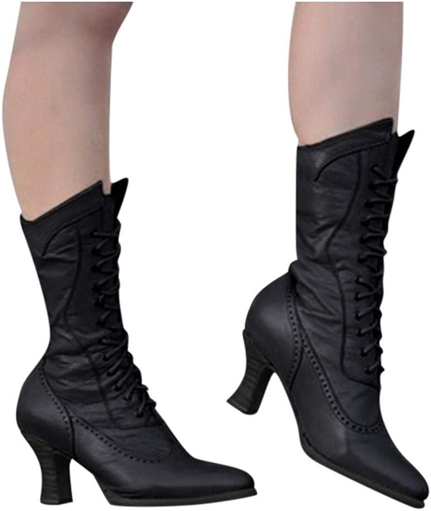 Jaminy Bottes Femmes Hiver Femmes Steampunk Gothique Vintage Style r/étro Punk Boucle Bottes Combat Militaire Femmes Fourrure Semelle Anti-D/ÉRapante