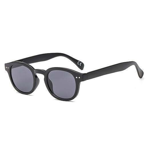 3004efc8c2 SUERTREE Fashion Summer Women Metal Sunglass Retro Round Shade Rimless  Eyeglasses JH9014 (Black Frame