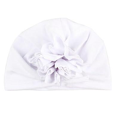 8b41bc5dc164 Bonnet Bébé, Enfant Solide Chapeau de Fleur de Couleur Pure Usure de la  Tête,