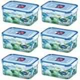 (Pack of 6) LOCK & LOCK Airtight Rectangular Food Storage Container 20.29-oz / 2.54-cup