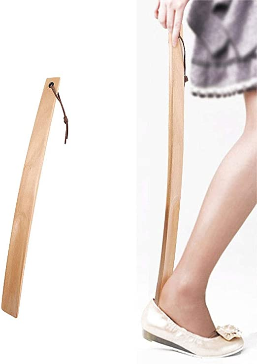 Boots Ankle Shoes Pregnant Women Old People YWJ Shoehorn 52cm Long Handle Solid Wood Shoes Horn Children