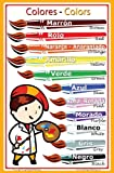 Spanish Language School Poster - Colors - Wall