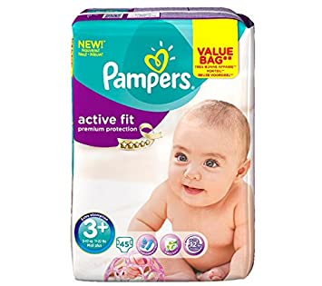PAMPERS Pañales Active Fit Talla 3+ midi (5-10 kg) - Formato