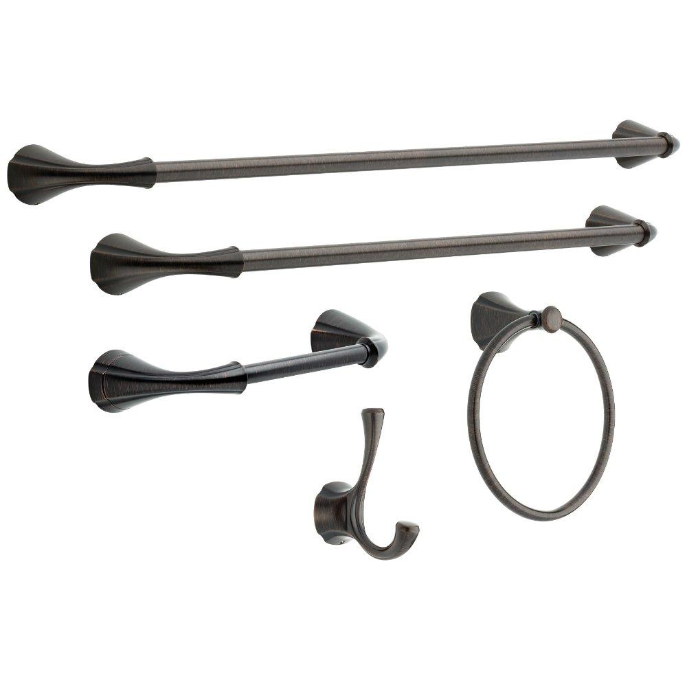 Delta Faucet 79235-RB Addison Double Robe Hook, SpotShield Venetian Bronze