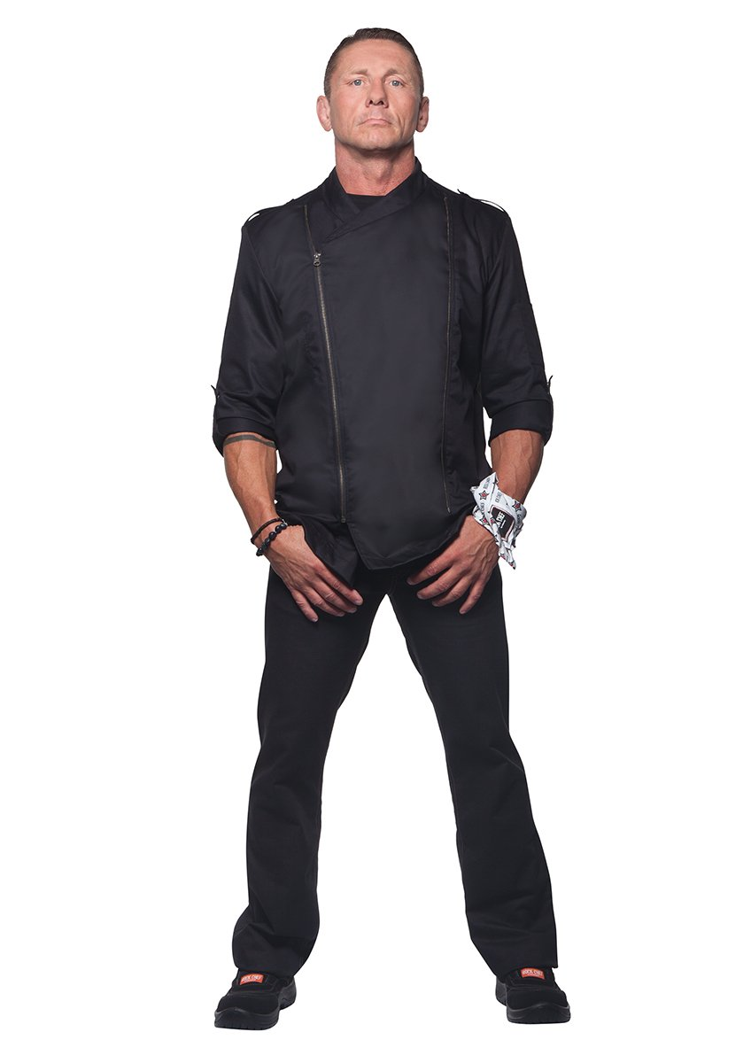 Karlowsky Men's Chef Jacket 'Rock Chef', Farbe: Schwarz, Gr: 58 by Karlowsky