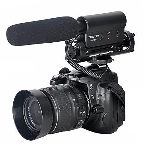 Amzdeal Micrófono cañón de condensador de vídeo profesional para ...