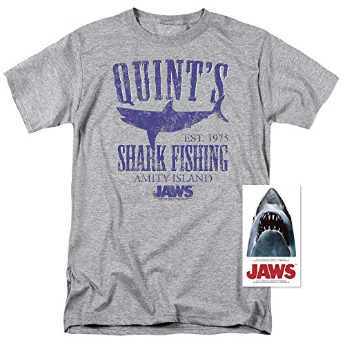 Jaws Movie Quints Shark Fishing T Shirt (XXXX-Large)