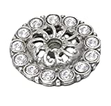 Carpe Diem Hardware 882-24C Cache Escutcheon Made with Swarovski Crystals, Medium, Platinum