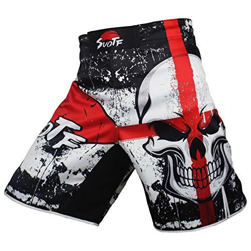 SUOTF MMA Black Boxing Cotton Loose Size Training Kickboxing Shorts Muay Thai Shorts Cheap MMA Shorts