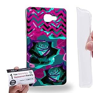 Case88 [Samsung Galaxy A9 (2016)] Gel TPU Carcasa/Funda & Tarjeta de garantía - Art Drawing Fashion Floral Chevron C Art0766