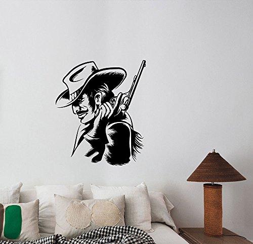 Cowboy Vinyl Decal Gunman Sheriff Texas Ranger Sticker