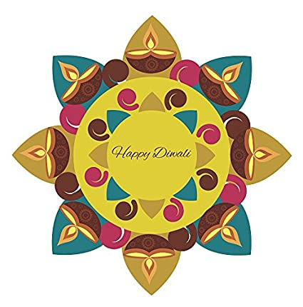 reputable site 2c176 6f22d Buy Decor Villa Pulli kolam Rangoli Floor Sticker & Decal ...
