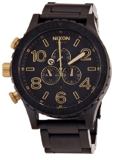 [ニクソン]NIXON 51-30 CHRONO: MATTE BLACK/GOLD NA0831041-00 メンズ