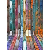 5x7ft Colored Wood Planks Photography Newborn Backdrop D1278