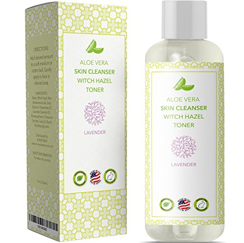 Pure Witch Hazel Alcohol Free Skin & Facial Astringent Aloe