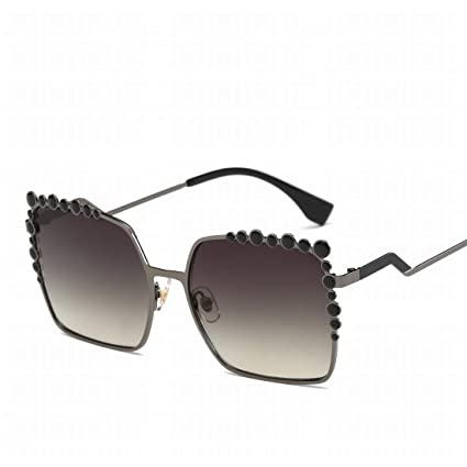 Nalkusxi Marco de Gran tamaño Gafas de Sol de Metal ...