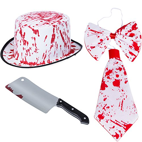 Tigerdoe Bloody Costumes - Scary Costumes - Butcher Costume - (3 Pc Costume set) by (Bloody -