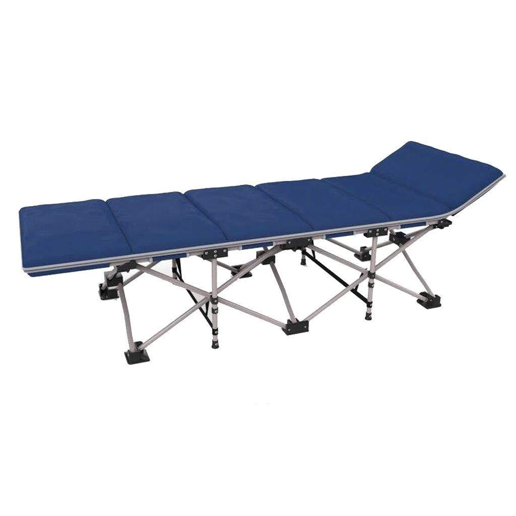 Lit De Camping Lit Pliant Lit De Bureau Chaise Longue Lit De Plage Portable Lit De Camp Extérieur Lit D'appoint Peut Supporter 120 Kg (Couleur   B, Taille   190  67  35cm) B. 1906735cm