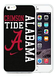 Unique iPhone 6 Plus/iPhone 6S Plus TPU Case ,Fashionable And Durable Designed Case With Southeastern Conference SEC Football Alabama Crimson Tide 8 White iPhone 6 Plus/iPhone 6S Plus TPU Phone Case