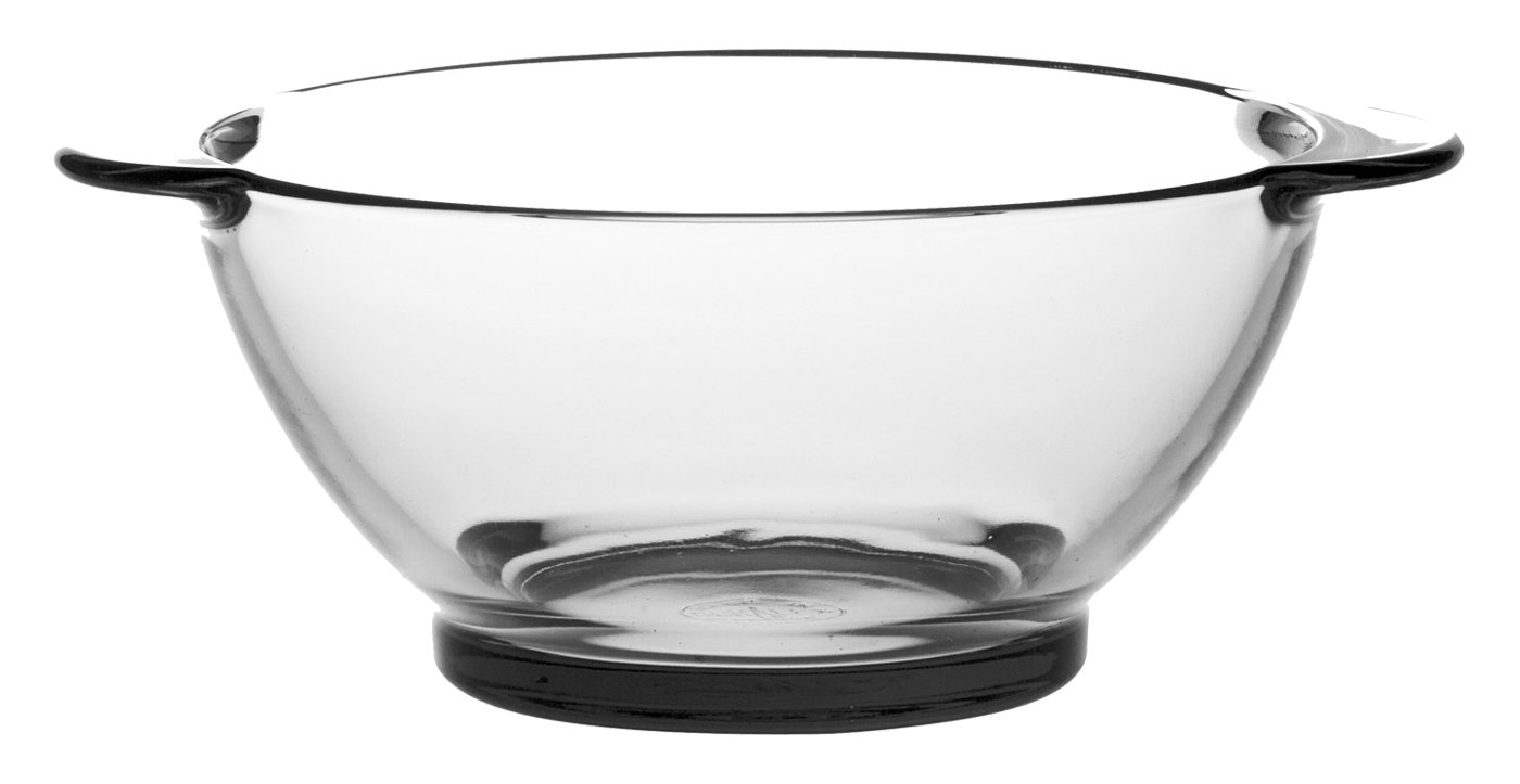 Duralex Made in France 2005AF06/6 Lys Dinnerware 18 oz Soup Bowl with Handles. Set of 6.