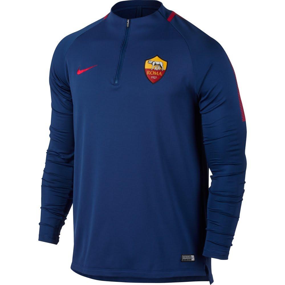 Nike 2017-2018 AS Roma Training Drill Top (Royal Blau)