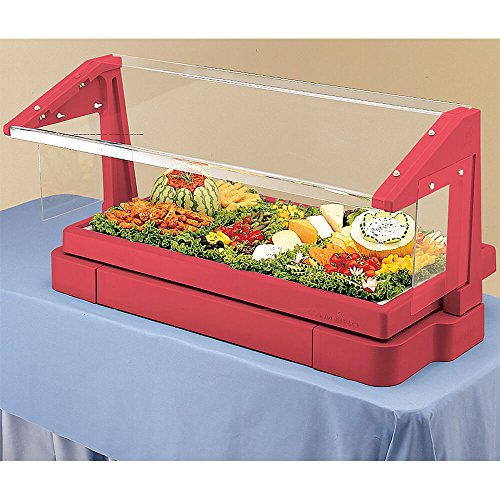 Cambro BBR720158 Tabletop Salad Bar with cold pan 5-pan size hot red