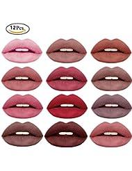 Lipstick set 12Pcs Matte Liquid Lipstick Madly Waterproof...