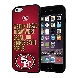 """American Football NFL SF Sanfran cisco 49ers , Cool iPhone 6 Plus (6+ , 5.5"""") Smartphone Case Cover Collector iphone TPU Rubber Case Black hjbrhga1544"""