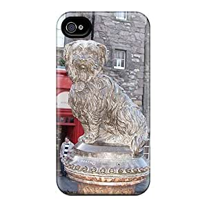 For Iphone Case, High Quality Statue Of Greyfriars Bobby Edinburgh For Iphone 4/4s Cover Cases