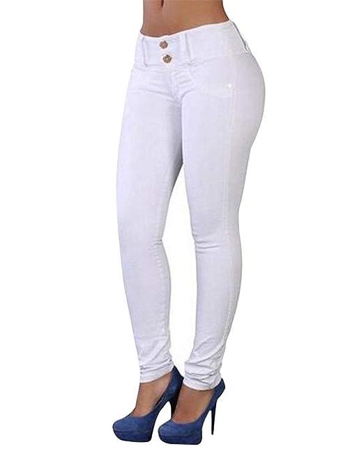 ADELINA Pantalones De Mujer Pantalones De Mezclilla ...
