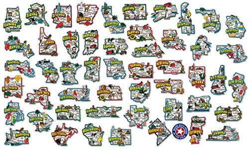 Classic Magnets Complete State Jumbo Map Magnet Collection
