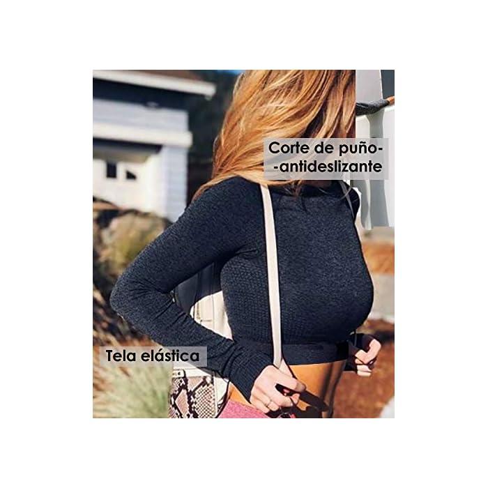 51MfoHfCK6L 【Material Excelente】: 76% nylon,16% poliéster,8% spandex 【Característica】: La tela tacado suave de alta elasticidad y durable. Las telas altamente elásticas proporciona soporte estable y alivian el impacto del ejercicio en el pecho. Material: 86% Poliéster, 14% Elastano