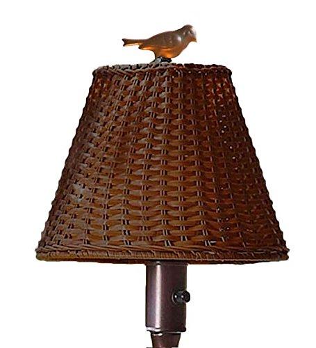 Plow & Hearth 39801-BR Waterproof Outdoor Wicker Floor Lamp, 16 3/4