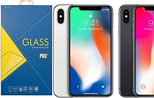 [2-Pack] Pellicola Vetro Temperato iPhone X, 9H 2.5D Anti-impronte Anti-graffio Ultra-Clear Protezioni Schermo