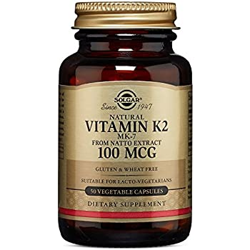 Solgar – Naturally Sourced Vitamin K2 (MK-7) 100 mcg, 50 Vegetable Capsules