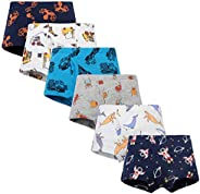 Closecret Soft Cotton Toddler Underwear Little Boys' Assorted Boxer Briefs(Pack o