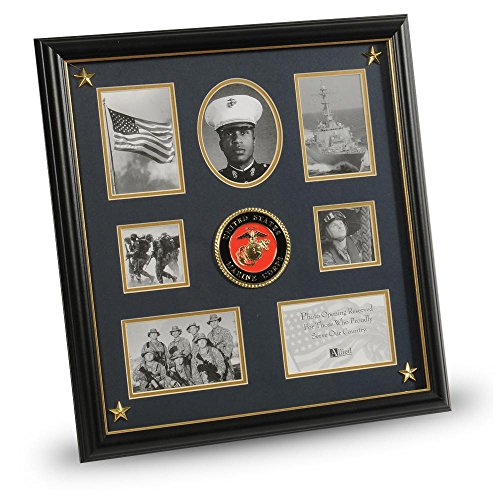 (Allied Frame United States Marine Corps Medallion 7 Picture Collage Frame with)