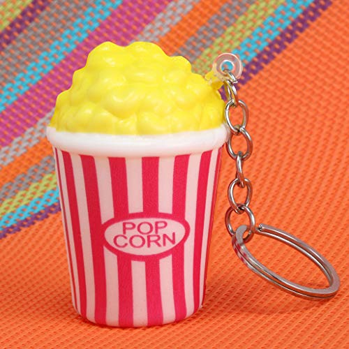 2019HoHo Squishy Toys Key Chain Cute Popcorn Stress Anxiety Relief Toys Squeeze Toys for Kids Adults