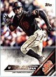 2016 Topps Update #US128 Denard Span San Francisco Giants Baseball Card in Protective Screwdown Display Case