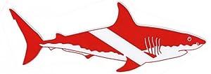 Small Dive Shark Sticker