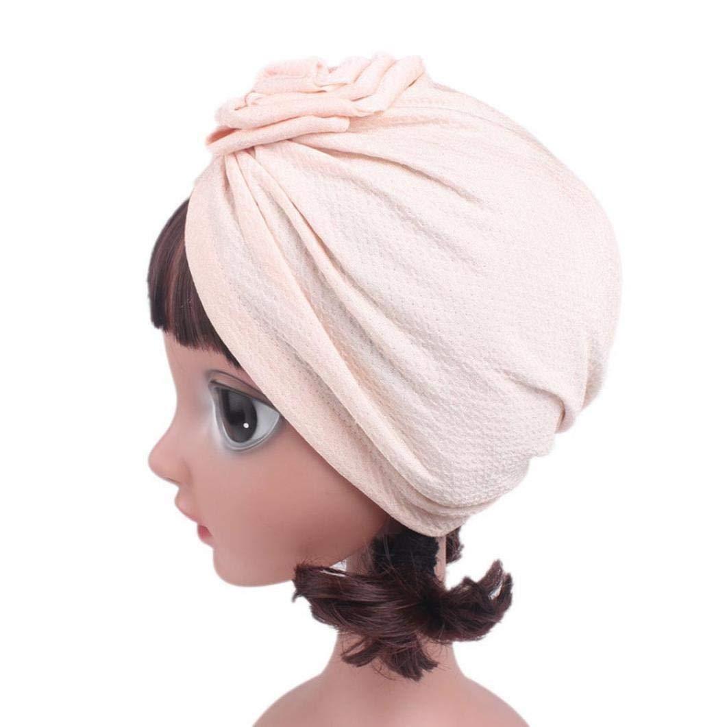 Huojingli Children Baby Girls Women Boho Hat Beanie Scarf Turban Head Wrap Cap