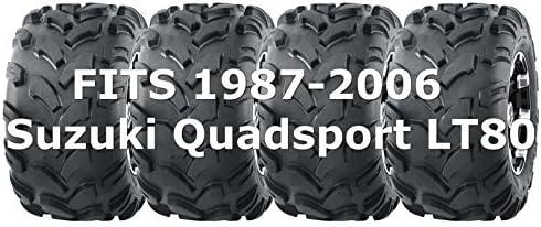 19x7-8 19x7x8 Set 4 ATV Tires fit 1987-2006 Suzuki Quadsport LT80