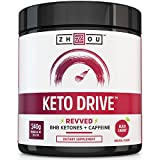 KETO DRIVE with Caffeine Exogenous Ketone Complex - BHB Salts for Ketosis, Energy, Focus & Fat Burn - Patented Beta-Hydroxybutyrates & Electrolytes (Calcium, Sodium, Magnesium) - Black Cherry 'REVVED'